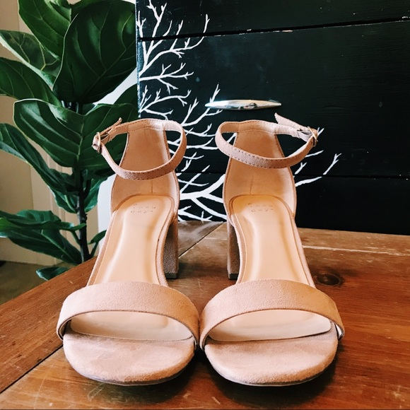 A New Day Shoes Target 75 Nude Pumps Heels Strap Staple Boho 25 Poshmark